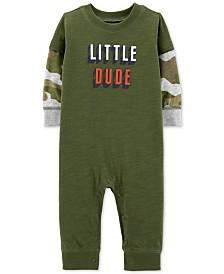 Carter's Baby Boys Camo-Print Little Dude Cotton Coverall