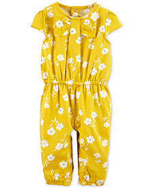Carter's Baby Girls Floral-Print Coverall