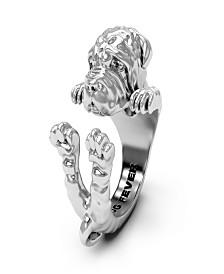 Shar Pei Hug Ring in Sterling Silver