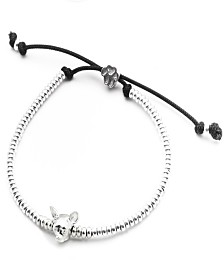 Chihuahua Head Bracelet in Sterling Silver