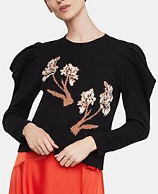 BCBGMAXAZRIA Puffed-Sleeve Sweater