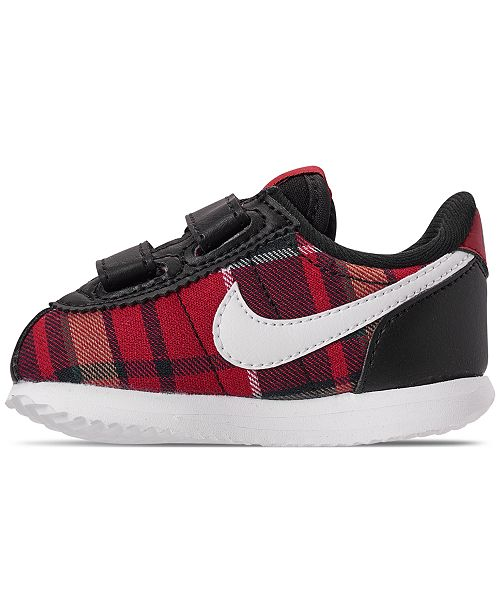 low priced bf761 345df ... Nike Toddler Girls  Cortez Basic Textile SE Casual Sneakers from Finish  ...