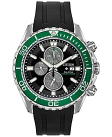 Eco-Drive Men's Promaster Diver Black Rubber Strap Watch 46mm