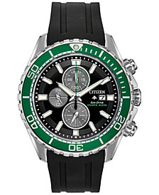 Citizen Eco-Drive Men's Promaster Diver Black Rubber Strap Watch 46mm