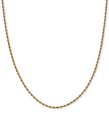"Rope Link 18"" Chain Necklace in 14k Gold"