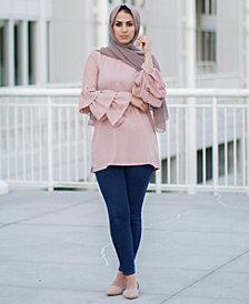 Verona Collection Alma Ruffle-Sleeve Top