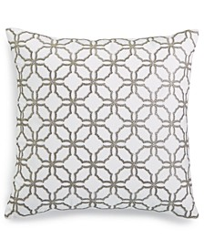 "Embroidered 18"" x 18"" Decorative Pillow, Created for Macy's"