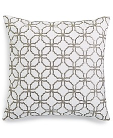"""Charter Club Damask Designs Embroidered 18"""" x 18"""" Decorative Pillow, Created for Macy's"""