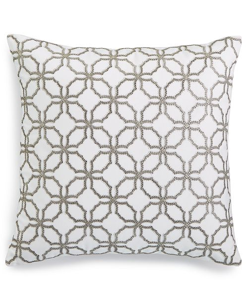"""Charter Club Embroidered 18"""" x 18"""" Decorative Pillow, Created for Macy's"""