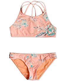 Roxy Big Girls Two-Piece Crop-Top Bikini