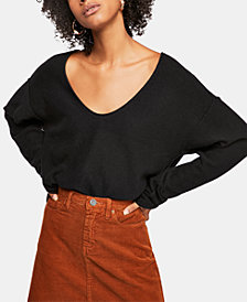 Free People Forever Cashmere V-Neck Sweater