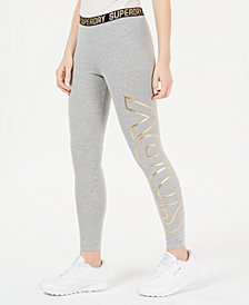 Superdry Ace Metallic Logo-Waistband Leggings