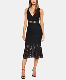 Bardot Fiona Lace Trumpet-Hem Sheath Dress