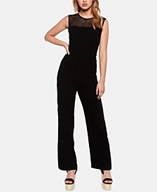 Brooke Illusion-Neck Jumpsuit