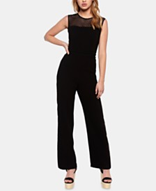 Bardot Brooke Illusion-Neck Jumpsuit