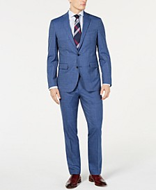 Men's Slim-Fit Stretch Pin-Dot Suit Separates