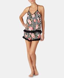 Betsey Johnson Ruffled Printed Cami & Shorts Pajama Set