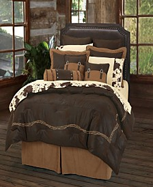 EmbroideRed Barbwire Comforter, Super Queen Chocolate