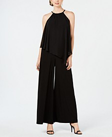 Popover Braided Halter Jumpsuit