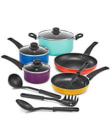 12-Pc. Multi Colored Cookware Set