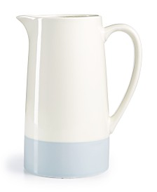 Martha Stewart Color Striping Blue Pitcher, Created for Macy's
