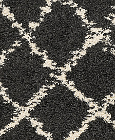 """Surya Berber Shag BBE-2307 Charcoal 18"""" Square Swatch"""
