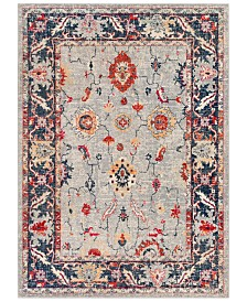 "Surya Bohemian BOM-2302 Bright Red 7'10"" x 10'3"" Area Rug"