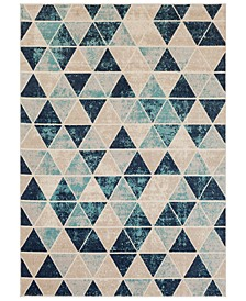 "City CIT-2328 Aqua 9'3"" x 12'3"" Area Rug"