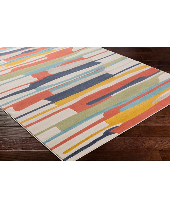 """Abbie & Allie Rugs - City CIT-2339 Coral 18"""" Square Swatch"""
