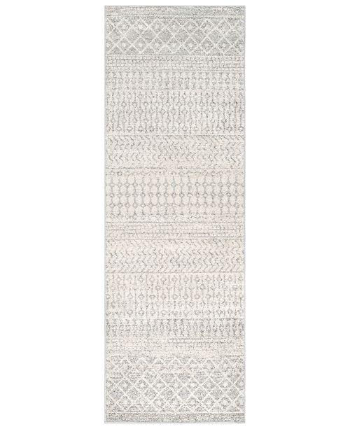 "Surya Elaziz ELZ-2308 Light Gray 2'7"" x 12' Runner Area Rug"