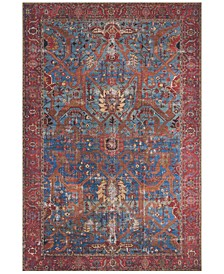 "Loren LQ-10 Blue/Red 7'6"" x 9'6"" Area Rug"