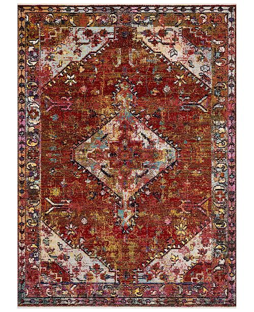 "Justina Blakeney Silvia SIL-06 Red/Multi 5' x 7'6"" Area Rug"