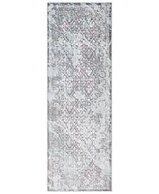 "Genesis GNS-2304 Silver Gray 2'7"" x 7'6"" Runner Area Rug"