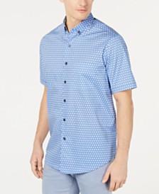 Tasso Elba Men's Chiamo Circle-Print Shirt, Created for Macy's