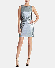 RACHEL Rachel Roy Iggy Draped Metallic Dress, Created for Macy's
