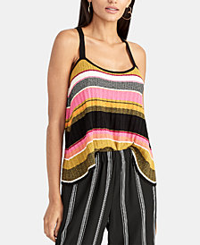 RACHEL Rachel Roy Kennedy Striped Knit Tank, Created for Macy's