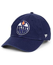 Authentic NHL Headwear Edmonton Oilers Fan Relaxed Adjustable Strapback Cap