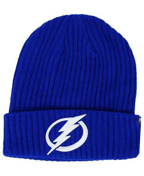 56d3ce81356163 ... Authentic NHL Headwear Tampa Bay Lightning Fan Basic Cuff Knit Hat ...