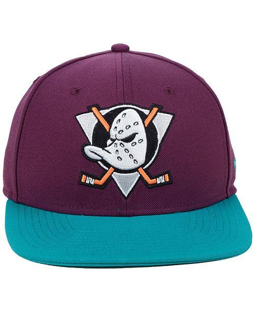 821e1209f ... Authentic NHL Headwear Anaheim Ducks Mighty Ducks Collection Snapback  Cap ...