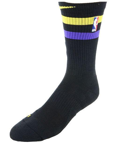 f7ff2641fbc Nike Los Angeles Lakers City Edition Elite Crew Socks   Reviews ...