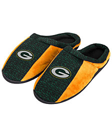 Forever Collectibles Green Bay Packers Knit Cup Sole Slippers