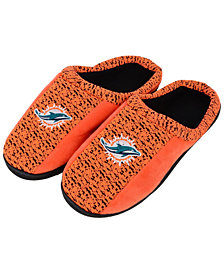 Forever Collectibles Miami Dolphins Knit Cup Sole Slippers