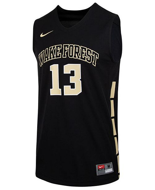 brand new 36e09 180e6 Men's Wake Forest Demon Deacons Replica Basketball Jersey