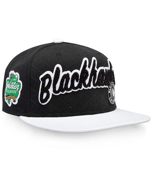 3c4ce1c141b ... Authentic NHL Headwear Chicago Blackhawks Winter Classic Snapback Cap  ...