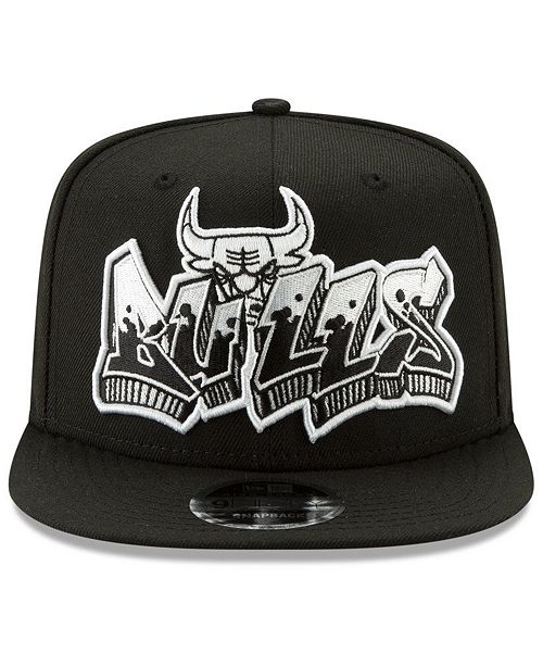 lowest price 76c23 c08f0 ... New Era Chicago Bulls Retroword Black White 9FIFTY Snapback Cap ...
