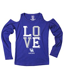 Kentucky Wildcats Cold Shoulder Long Sleeve T-Shirt, Girls (8-16)