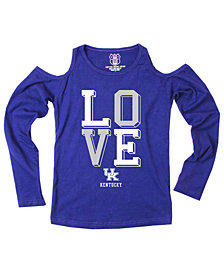 Wes & Willy Kentucky Wildcats Cold Shoulder Long Sleeve T-Shirt, Girls (4-16)
