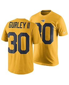 Nike Men's Todd Gurley Los Angeles Rams Pride Name and Number Wordmark Color Rush T-Shirt