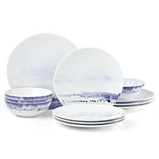 Lenox Watercolor Horizons Blue 12-Pc. Dinnerware Set, Created for Macy's