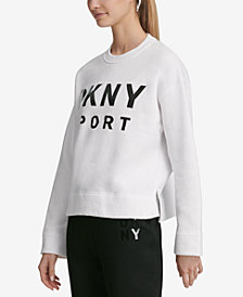 DKNY Sport Lacquer-Logo Fleece Top, Created for Macy's